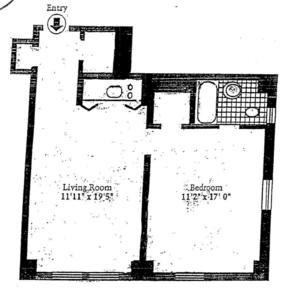 floorplan for 5 Tudor City Place #1332