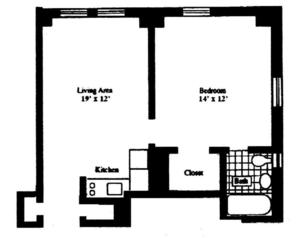 floorplan for 5 Tudor City Place #1631
