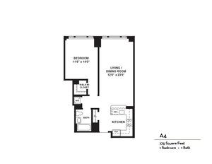 floorplan for 37 West 21st Street #1107