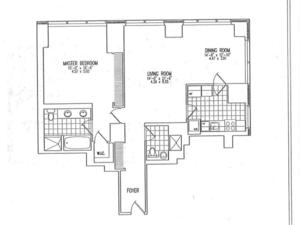 floorplan for 845 United Nations Plaza #18H