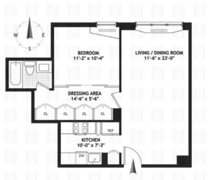 floorplan for 220 East 65th Street #20A