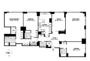 floorplan for 845 United Nations Plaza #82B