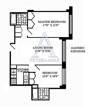 floorplan for 220 East 65th Street #4N