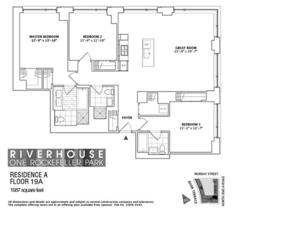 floorplan for 2 River Terrace #19A