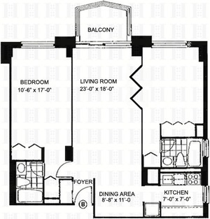 floorplan for 220 East 65th Street #14B