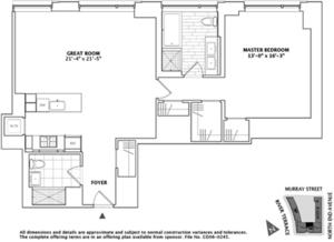 floorplan for 2 River Terrace #19F