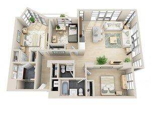 floorplan for 111 Kent Avenue #6O
