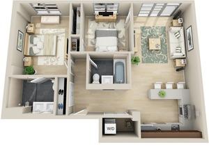 floorplan for 111 Kent Avenue #3J
