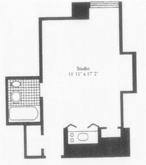 floorplan for 5 Tudor City Place #1135