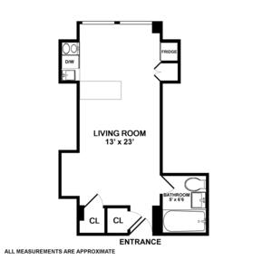 floorplan for 5 Tudor City Place #1016