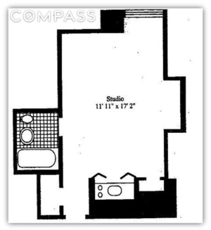 floorplan for 5 Tudor City Place #517
