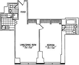 floorplan for 845 United Nations Plaza