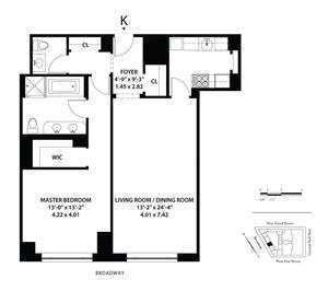 floorplan for 15 Central Park West #8K