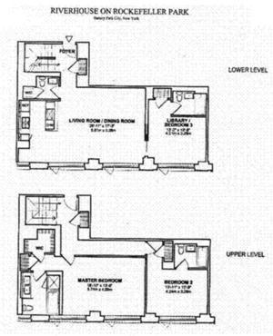 floorplan for 2 River Terrace #25C
