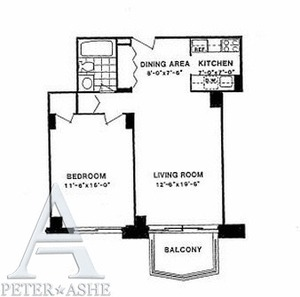 floorplan for 220 East 65th Street #16D