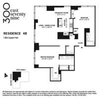 floorplan for 300 East 79th Street #4B