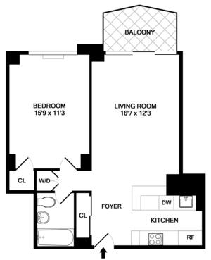 floorplan for 220 East 65th Street #10F