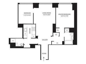 floorplan for 845 United Nations Plaza #18G