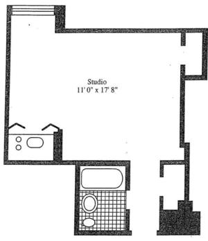 floorplan for 5 Tudor City Place #1633