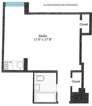 floorplan for 5 Tudor City Place #2133