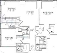 floorplan for 845 United Nations Plaza #21E