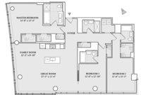 floorplan for 1 River Terrace #10H