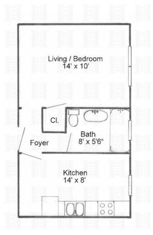 floorplan for 637 41st Street #4C