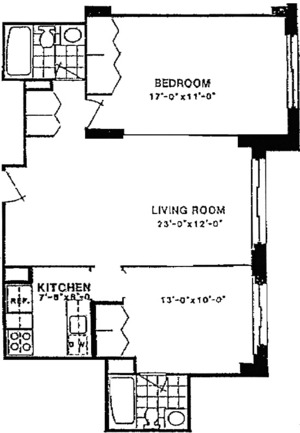 floorplan for 220 East 65th Street #18N