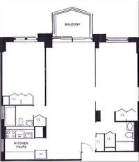 floorplan for 220 East 65th Street #23H