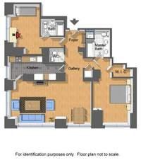 floorplan for 845 United Nations Plz #18D