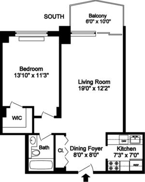 floorplan for 220 East 65th Street #23F1