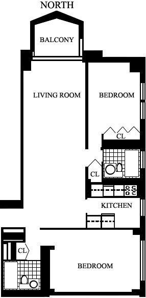 floorplan for 220 E 65th Street #18M