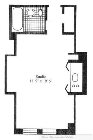 floorplan for 5 Tudor City Place #1401