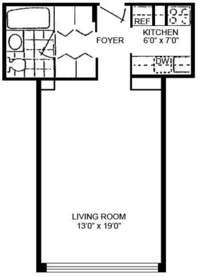 floorplan for 220 East 65th Street #5E