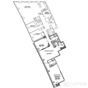 floorplan for 2 River Terrace #4RS