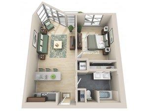 floorplan for 111 Kent Avenue #5H
