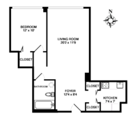 floorplan for 61 West 62nd Street #21A