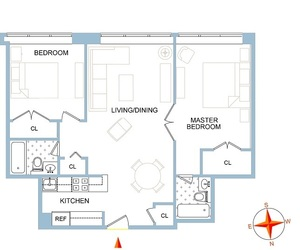 floorplan for 61 West 62nd Street