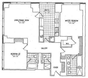 floorplan for 845 United Nations Plaza #49C