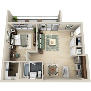 floorplan for 111 Kent Avenue #4U