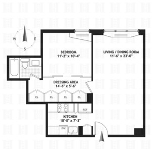 floorplan for 220 East 65th Street #21A