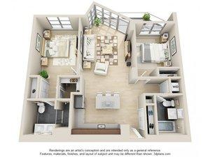 floorplan for 111 Kent Avenue #3C
