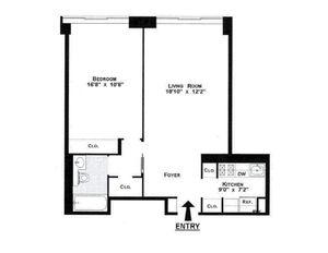 floorplan for 61 West 62nd Street #24F