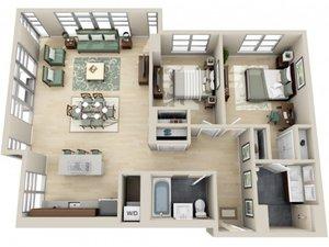 floorplan for 111 Kent Avenue #5E