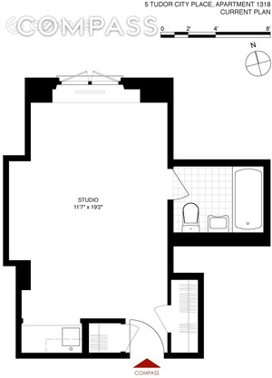 floorplan for 5 Tudor City Place #1318