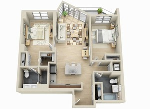 floorplan for 111 Kent Avenue #4K