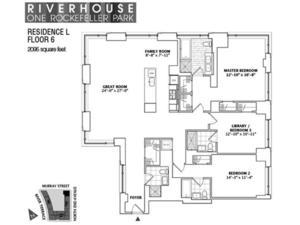 floorplan for 2 River Terrace #6L