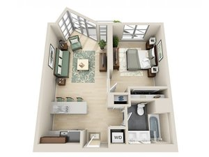 floorplan for 111 Kent Avenue #2Q