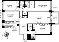 floorplan for 150 East 69th Street #9A