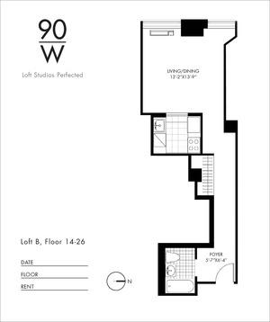 floorplan for 90 Washington Street #16B